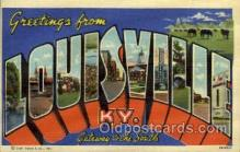 LLT001912 - Louisville, KY, Kentucky, USA Large Letter USA Town, Towns, Postcard Postcards