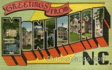 LLT001919 - Montreat, NC, North Carolina, USA Large Letter USA Town, Towns, Postcard Postcards