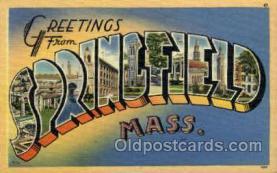 LLT001920 - Springfield, Mass., Masschusetts, USA Large Letter USA Town, Towns, Postcard Postcards