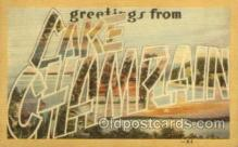 LLT001927 - Lake ChampLain, USA Large Letter USA Town, Towns, Postcard Postcards