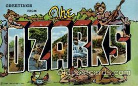 LLT001929 - Ozarks, USA Large Letter USA Town, Towns, Postcard Postcards