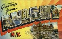 LLT001931 - Albany, NY, New York, USA Large Letter USA Town, Towns, Postcard Postcards