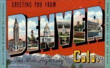 LLT001935 - Denver, Colorado, USA Large Letter USA Town, Towns, Postcard Postcards