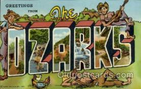 LLT001936 - Ozarks, USA Large Letter USA Town, Towns, Postcard Postcards