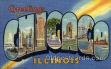 LLT001937 - Chicago, Illinois, USA Large Letter USA Town, Towns, Postcard Postcards