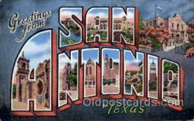 LLT001944 - Sanantonio, Texas, USA Large Letter USA Town, Towns, Postcard Postcards