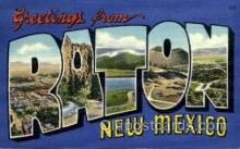 LLT001956 - Raton, New Mexico, USA Large Letter USA Town, Towns, Postcard Postcards
