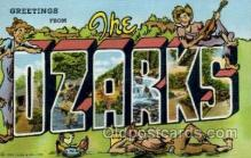 LLT001958 - ozarks Large Letter USA Town, Towns, Postcard Postcards