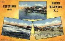 LLT001970 - North Wildwood, NJ, New Jersy, USA Large Letter USA Town, Towns, Postcard Postcards