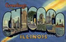 LLT001972 - Chicago, Illinois, USA Large Letter USA Town, Towns, Postcard Postcards