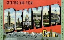 LLT001983 - Denver, Colorado, USA Large Letter USA Town, Towns, Postcard Postcards
