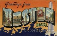 LLT001984 - Boston, Massachusetts, USA Large Letter USA Town, Towns, Postcard Postcards