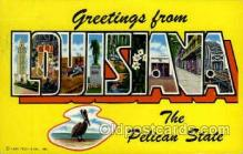 LLT001990 - Louisiana, USA Large Letter USA State, States, Postcard Postcards