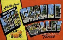 LLT001992 - Rio Grande Valley ,Texas, USA Large Letter USA Town, Towns, Postcard Postcards