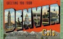 LLT001997 - Denver, Colorado, USA Large Letter USA Town, Towns, Postcard Postcards