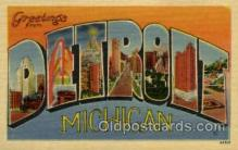 LLT001999 - Detroit, Michigan, USA Large Letter USA Town, Towns, Postcard Postcards