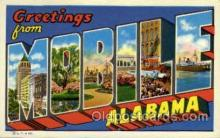 LLT002000 - Mobile, Alabama, USA Large Letter USA Town, Towns, Postcard Postcards