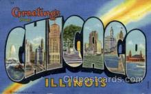 LLT002005 - Chicago, Illinois, USA Large Letter USA Town, Towns, Postcard Postcards