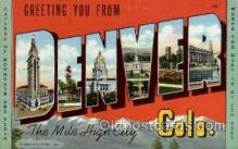 LLT002006 - Denver, Colorado, USA Large Letter USA Town, Towns, Postcard Postcards