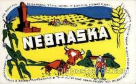 LLT002010 - Nebraska, USA Large Letter USA State, States, Postcard Postcards