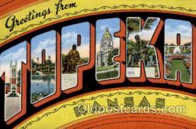 LLT002011 - Topeka, Kansas, USA Large Letter USA Town, Towns, Postcard Postcards