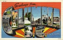 LLT002015 - Columbia, SC, South Carolina, USA Large Letter USA Town, Towns, Postcard Postcards