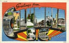 LLT002016 - Columbia, SC, South Carolina, USA Large Letter USA Town, Towns, Postcard Postcards