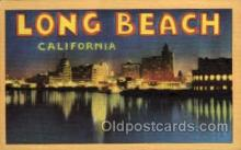 LLT002022 - Long Beach, California, USA Large Letter USA Town, Towns, Postcard Postcards
