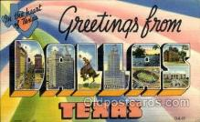 LLT002023 - Dallas, Texas, USA Large Letter USA Town, Towns, Postcard Postcards