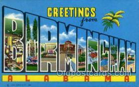 LLT002026 - Birmingham, Alabama, USA Large Letter USA Town, Towns, Postcard Postcards