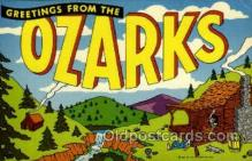 LLT002031 - Ozarks Large Letter USA Town, Towns, Postcard Postcards