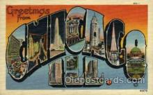 LLT002032 - Chicago, Illinois, USA Large Letter USA Town, Towns, Postcard Postcards