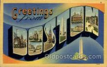 LLT002034 - Boston, Massachusetts, USA Large Letter USA Town, Towns, Postcard Postcards