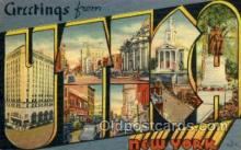 LLT002035 - Utica, NY, New York, USA Large Letter USA Town, Towns, Postcard Postcards
