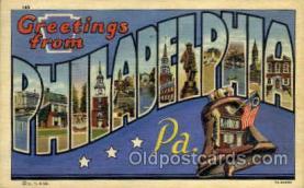 LLT002036 - Philladelphia, PA, Pennsylvania, USA Large Letter USA Town, Towns, Postcard Postcards