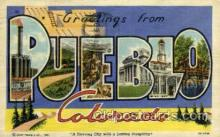 LLT002038 - Pueblo, Colorado, USA Large Letter USA Town, Towns, Postcard Postcards