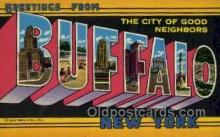 LLT002041 - Buffalo New York USA Large Letter Town Views Old Vintage Postcard Post Cards