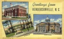 LLT002046 - Hendersonville North Carolina USA Large Letter Town Views Old Vintage Postcard Post Cards