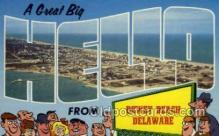 LLT002047 - Dewey Beach Delaware USA Large Letter Town Views Old Vintage Postcard Post Cards