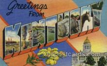 LLT002050 - Kentucky USA Large Letter Town Views Old Vintage Postcard Post Cards