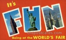 LLT002051 - Empire State Building Statue of Liberty and Chrysler building New York New York USA Large Letter Town Views Old Vintage Postcard Post Cards