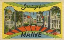LLT002052 - Agusta Maine USA Large Letter Town Views Old Vintage Postcard Post Cards
