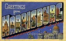 LLT002054 - Harrisonburg Pennsylvania USA Large Letter Town Views Old Vintage Postcard Post Cards