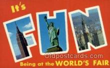 LLT002056 - Empire State Building Statue of Liberty and Chrysler building New York New York USA Large Letter Town Views Old Vintage Postcard Post Cards