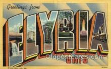 LLT002058 - Elyria Ohio USA Large Letter Town Views Old Vintage Postcard Post Cards