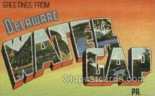 LLT002059 - Water Gap Delaware USA Large Letter Town Views Old Vintage Postcard Post Cards