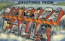 LLT002060 - Niagara Falls  USA Large Letter Town Views Old Vintage Postcard Post Cards