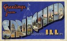 LLT002063 - Springfield Illinouis USA Large Letter Town Views Old Vintage Postcard Post Cards