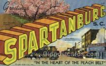 LLT002064 - Spartanburg South Carolina USA Large Letter Town Views Old Vintage Postcard Post Cards