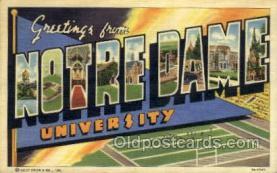LLT002065 - Notre Dame University USA Large Letter Town Views Old Vintage Postcard Post Cards